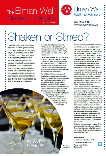 shaken or stirred