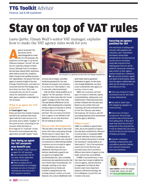 TTG - STAY ON TOP OF VAT RULES